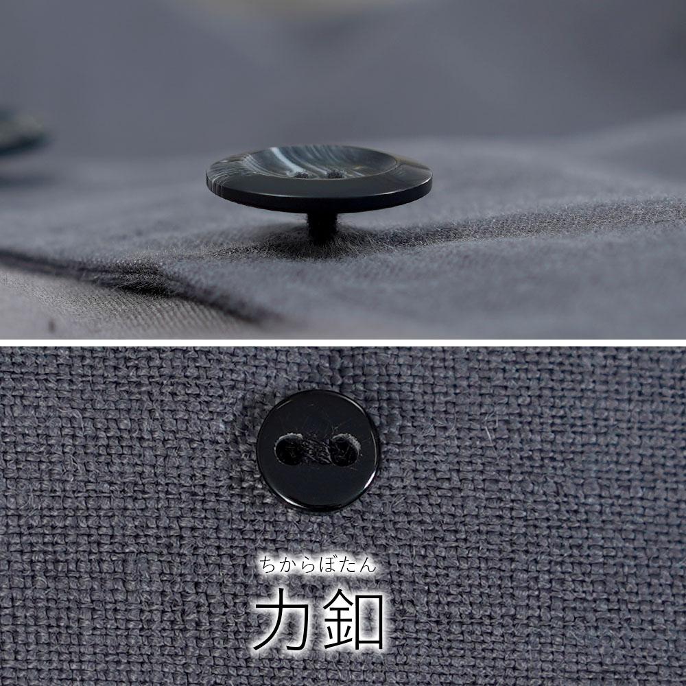 【wafu】中厚 リネン インバネスコート とんびコート ケープ 裏地あり/ディムグレー【free】h027a-dmg2