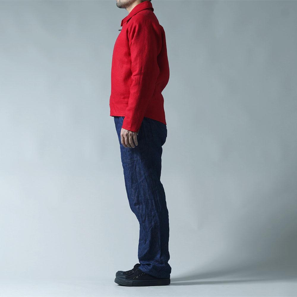 【wafu プレミアムリネン】リネン ライダース ジャケット wafu史上最高の上質リネン 高密度 総裏地仕様リネン100% ダブルライダース アウター シネマでみたワンシーンのライダース/クリストローゼ h047b-ctr2-m