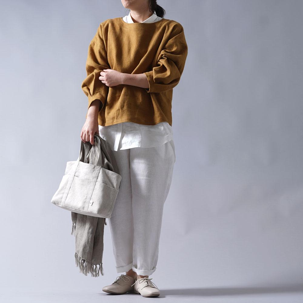 【wafu プレミアムリネン】数量限定!! 起毛プレミアムリネン ブラウス wafu史上最高の上質リネン/デリーブラス【free】t025d-drs3