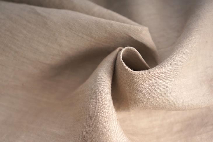 薄地 雅亜麻 リネンブラウス ドロップショルダー チュニック Tシャツ / 榛色(はしばみいろ)