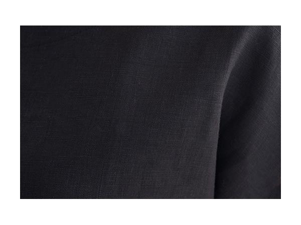 ベルギーリネン フレンチTシャツ/ブラック